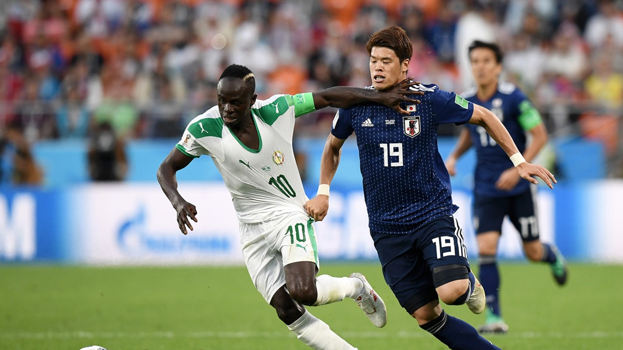 Sadio Mane Hiroki Sakai Japan Senegal World Cup 2018 240618