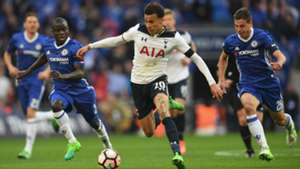 Alli passes Kante FAC Semi Final