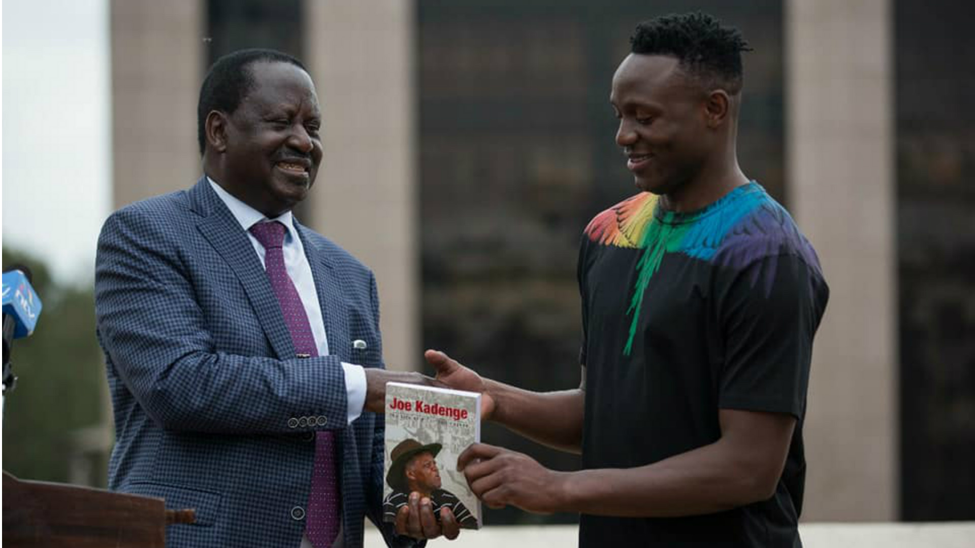 Odinga Raila and Victor Wanyama.