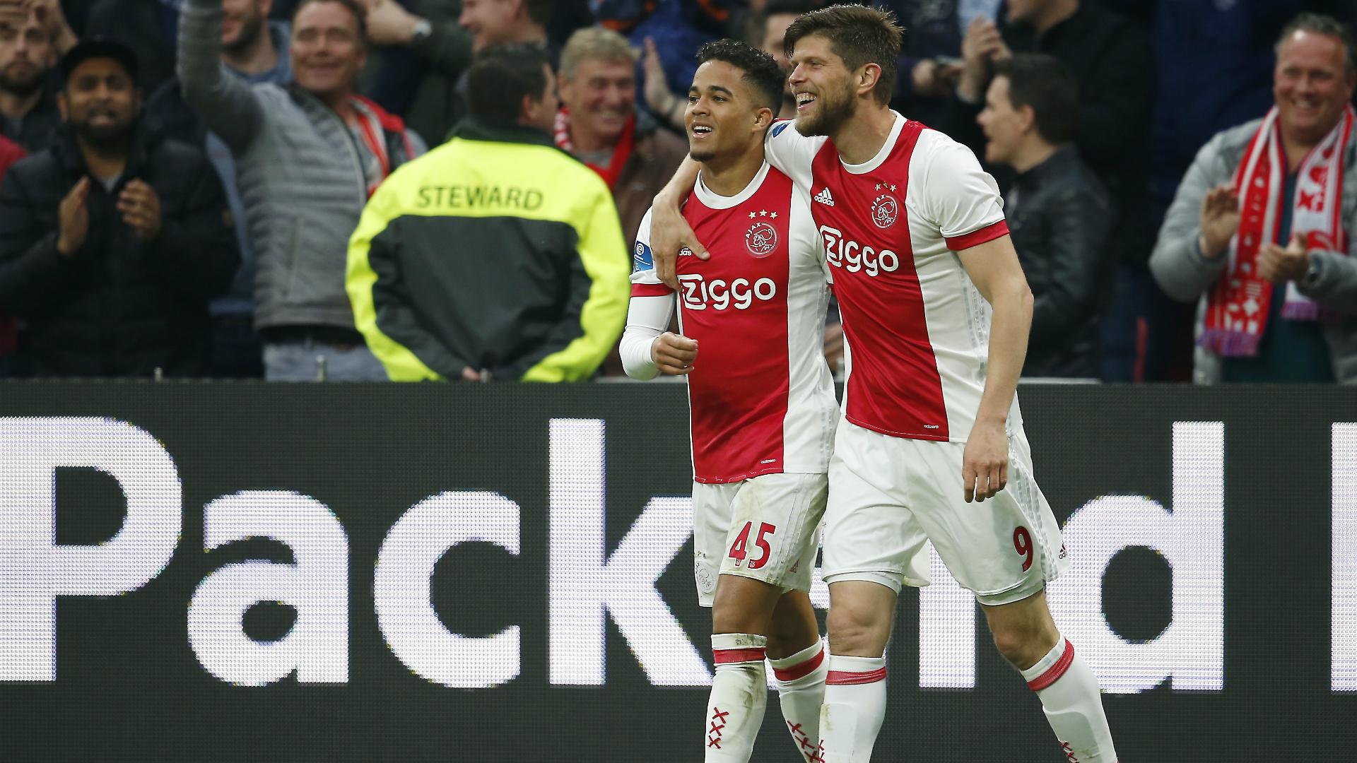 Justin Kluivert, Klaas-Jan Huntelaar, Ajax, Eredivisie 04292018