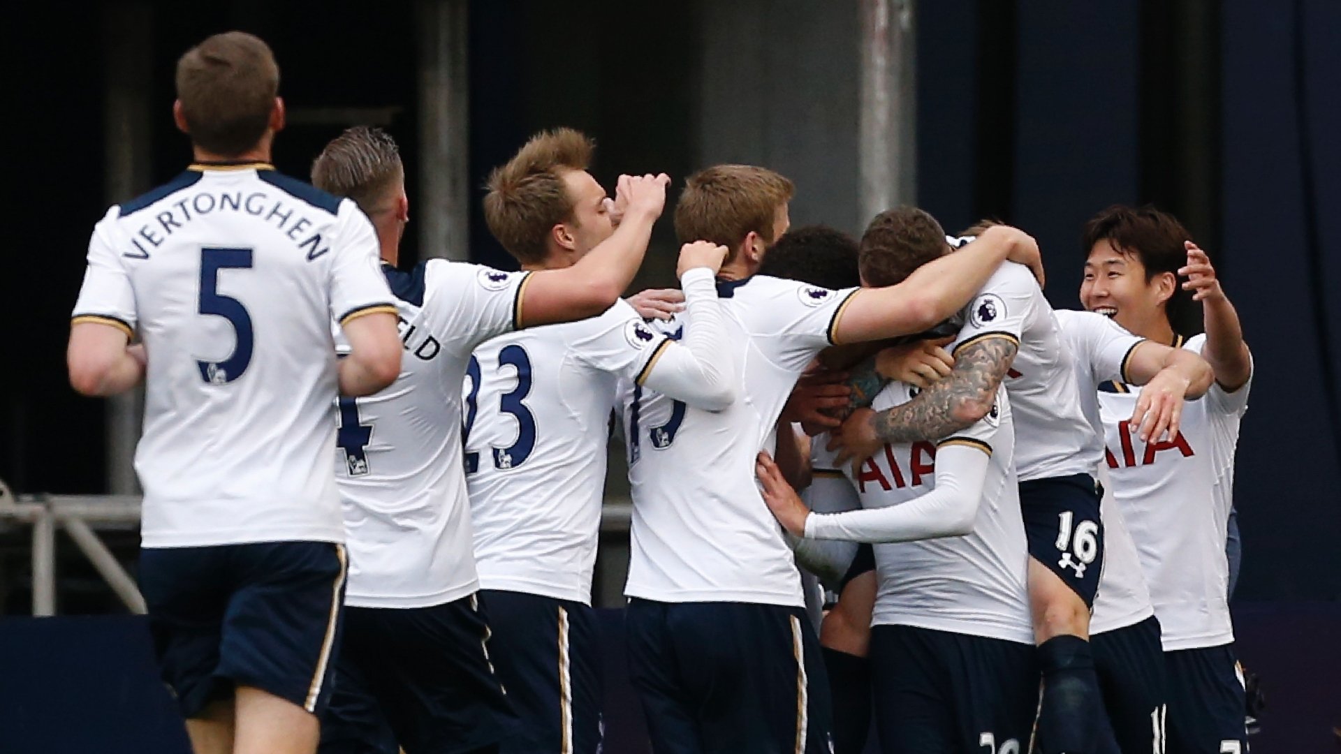 Tottenham celebrate NLD