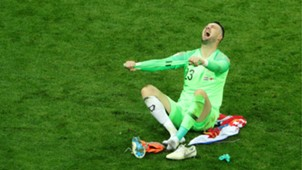 croatia england - danijel subasic celebration - world cup - 11072018