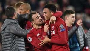 Xherdan Shaqiri Trent Alexander-Arnold Liverpool Barcelona Champions League 2019