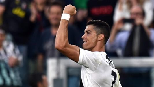 Cristiano Ronaldo celebrating Juventus Genoa