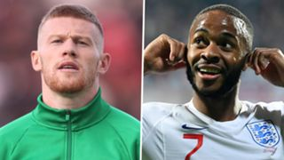James McClean Raheem Sterling Republic of Ireland England