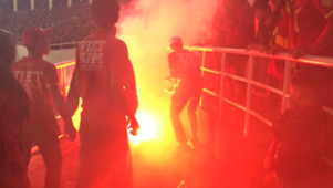 Flares on My Dinh Stadium Vietnam U23