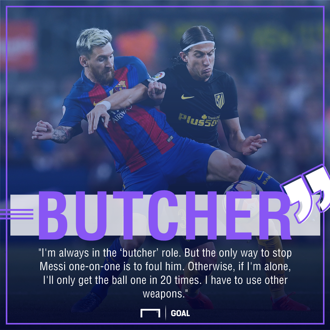 Filipe Luis Lionel Messi butcher role