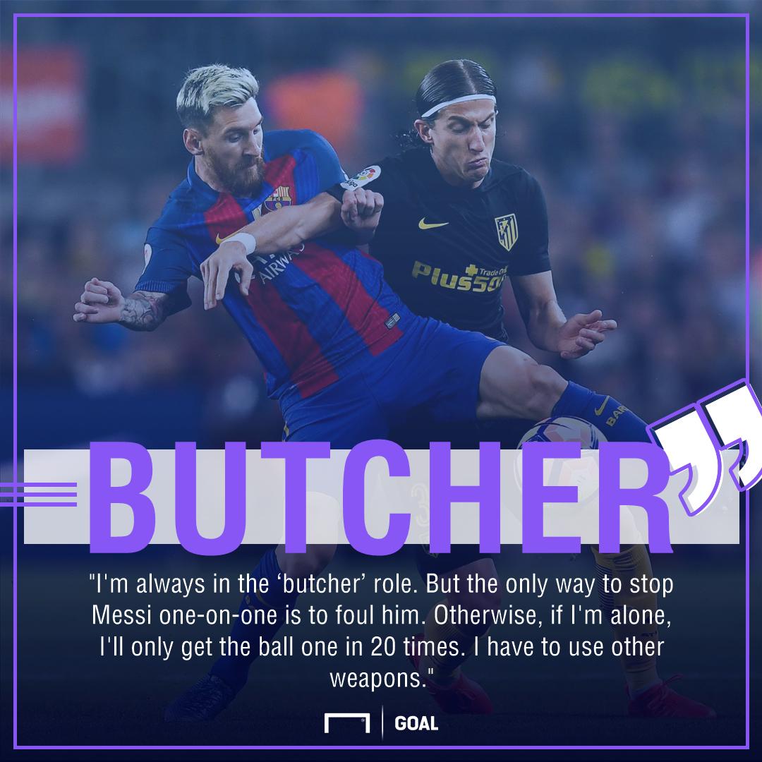 Filipe Luis Lionel Messi Butcher Role