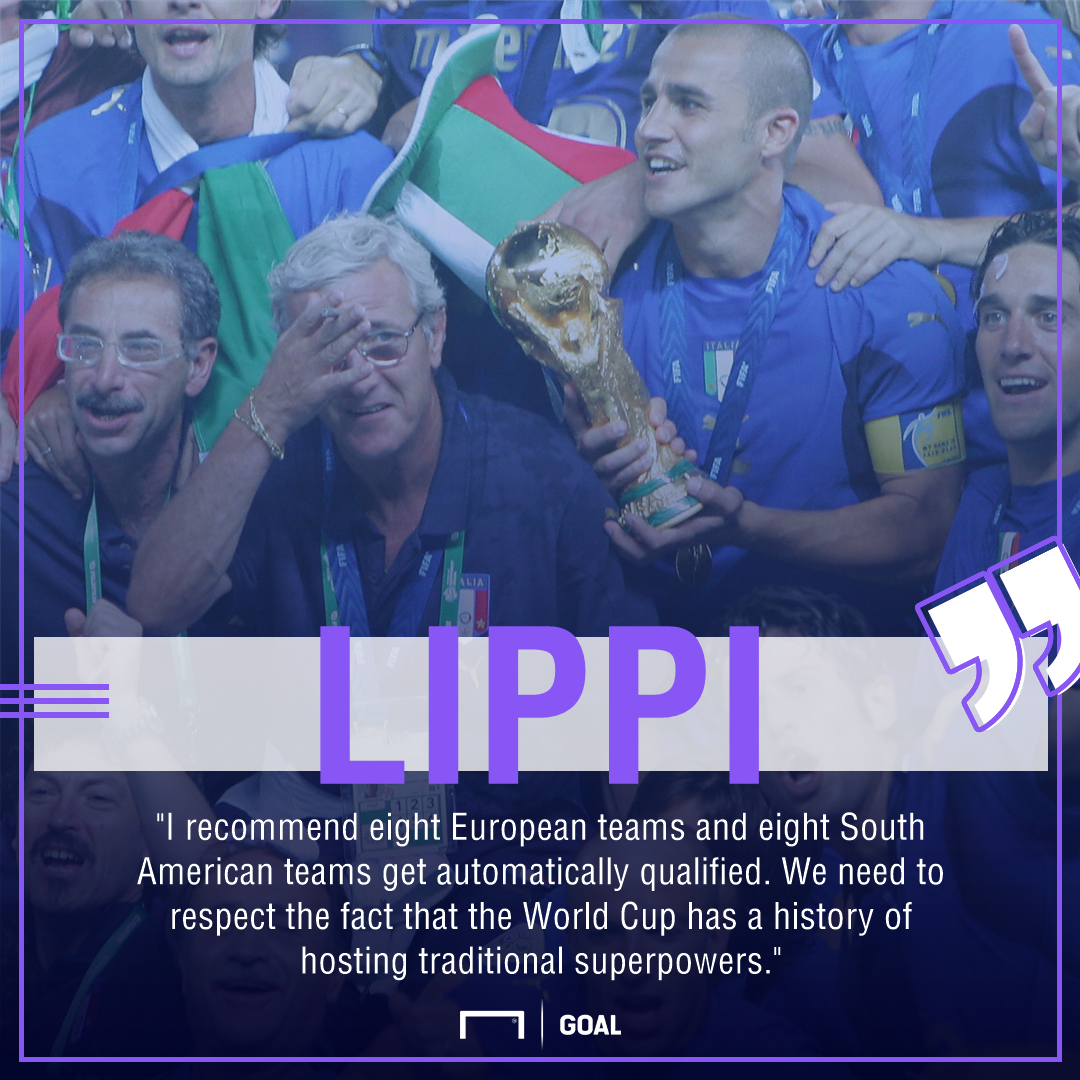 Marcello Lippi Italy World Cup guaranteed spots