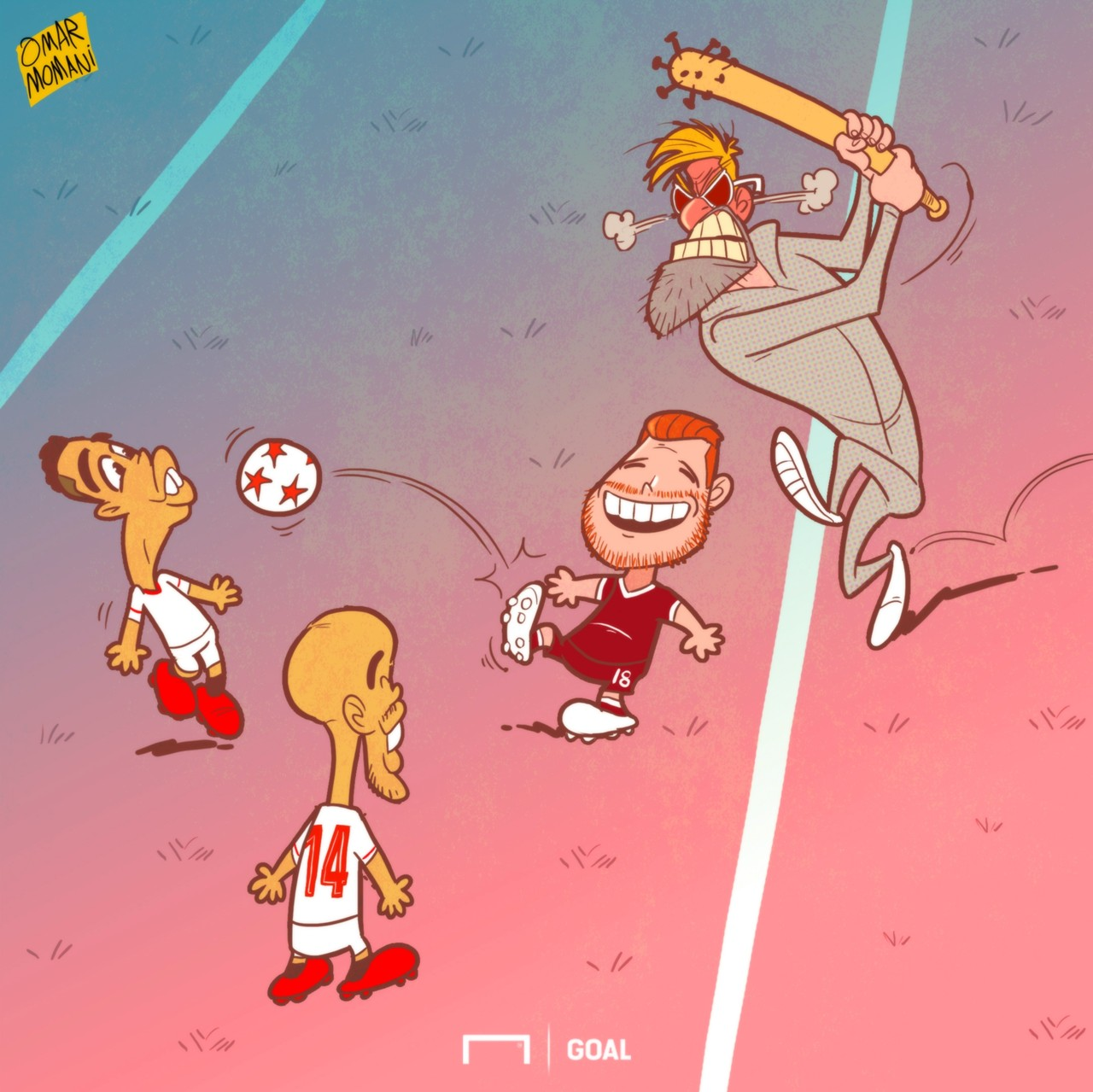 Galeri Kartun Goal Internasional 2017 - Pemain Liverpool Tidak Bermain Sepakbola