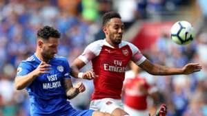 Sean Morrison Pierre-Emerick Aubameyang Cardiff Arsenal 02092018