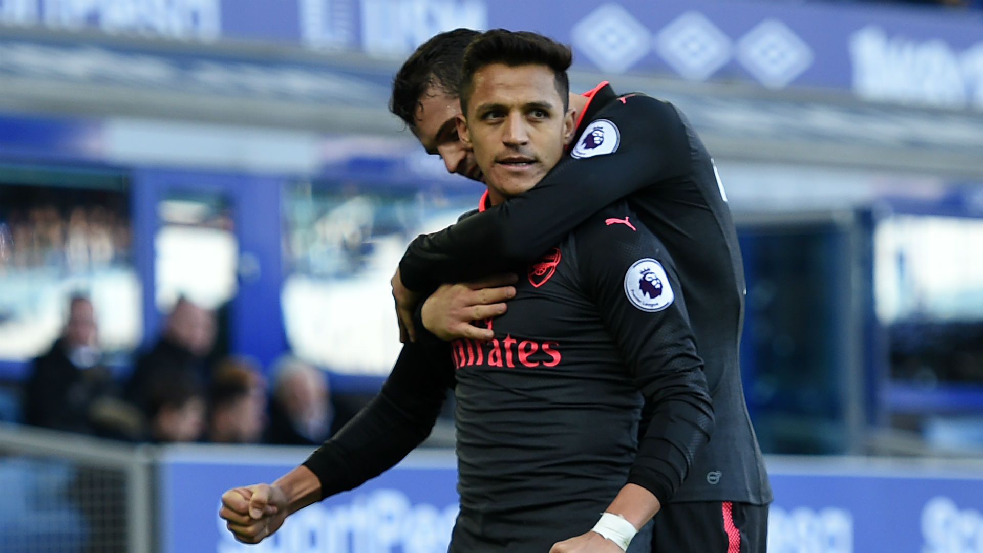 Alexis Sanchez Arsenal Everton