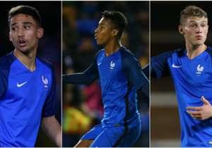 Frankreich trifft bei der U19-EM in Finnland in der Gruppe auf England, die Ukraine und die Türkei. Goal zeigt Euch die französischen Top-Talente.