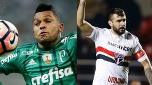 Borja e Lucas Pratto - Palmeiras e São Paulo - 25/08/2017