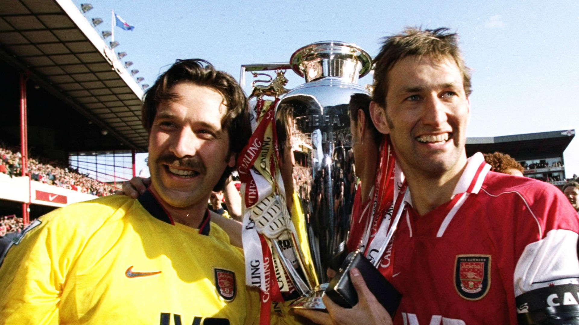 David Seaman Tony Adams Arsenal 1998