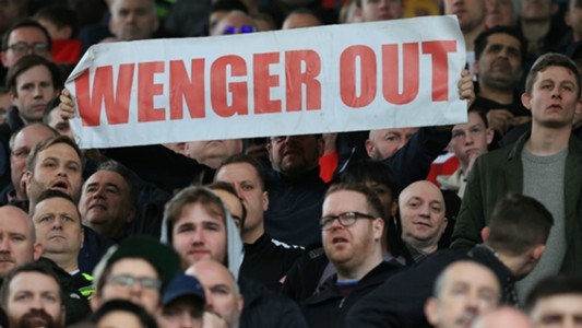 Arsene Wenger Out Banner 2017