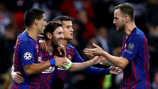 Lionel Messi Tottenham Barcelona UCL 03102018