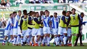 Pescara players celebrating Serie B