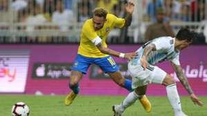 Neymar Brazil Argentina friendly