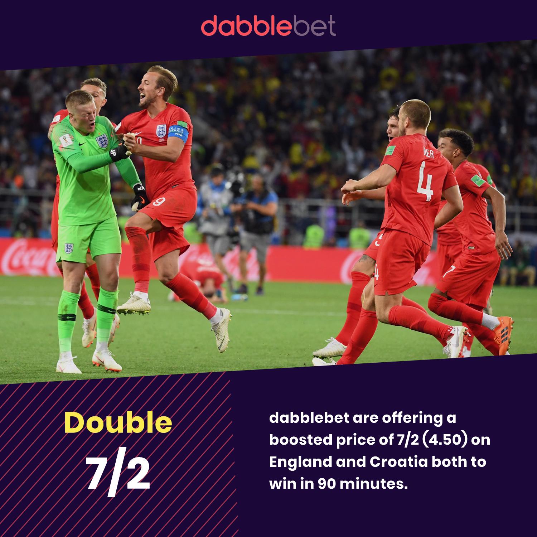 Amüsant Bett 90 Ideen Von England And Croatia Quarter Final Double Dabblebet