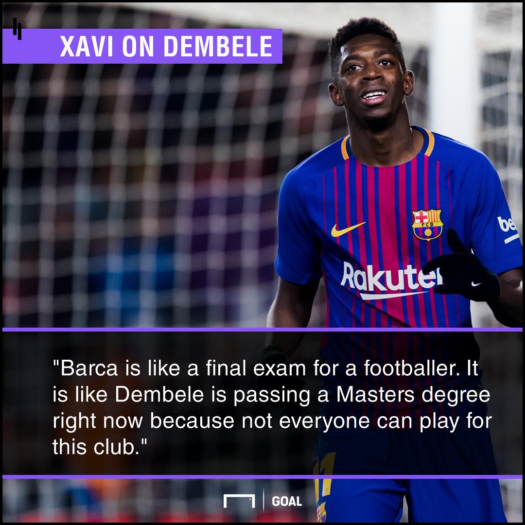 Ousmane Dembele Barcelona Masters exam Xavi