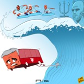 Manchester derby cartoon