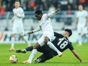 Joseph Paintsil Tolgay Arslan Besiktas Genk UEFA Europa League 10/25/18