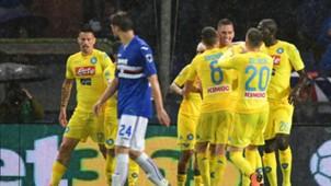 Napoli players celebrating Sampdoria Napoli Serie A