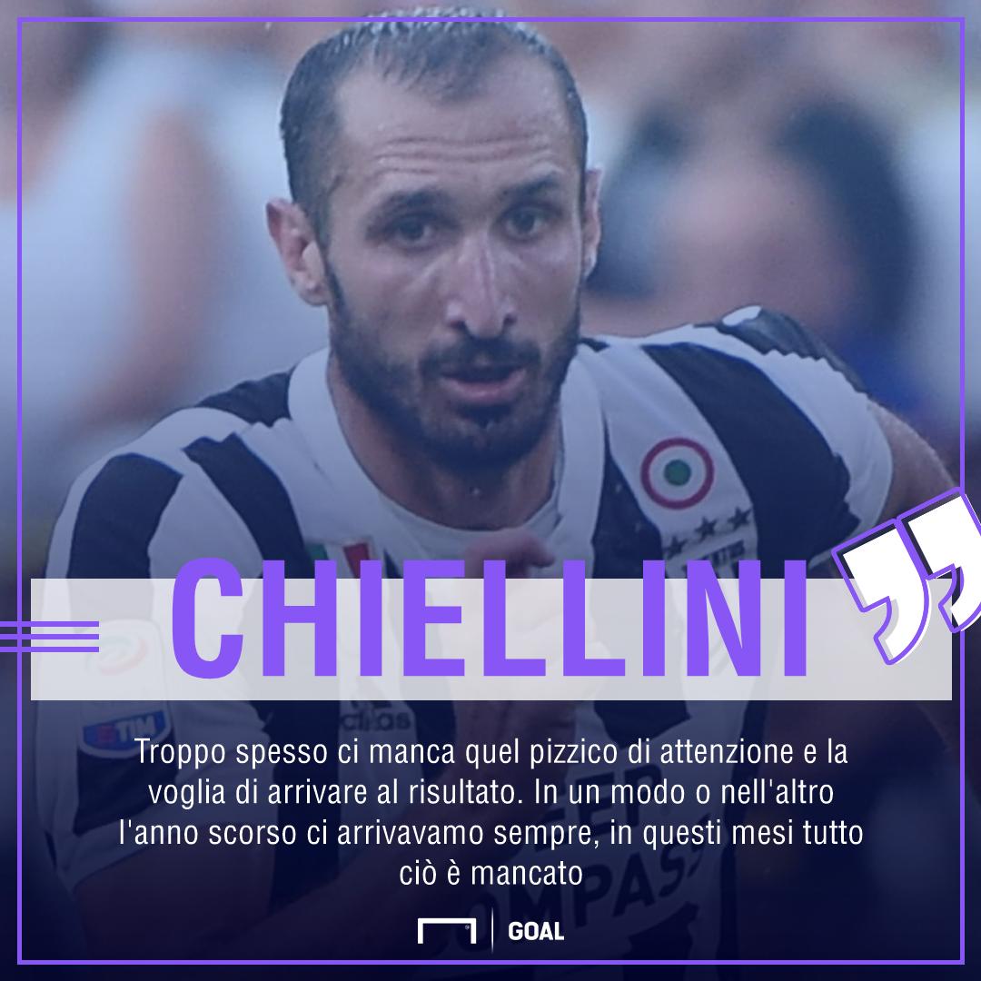 Juve, Chiellini convinto: Dispiace, meritavamo la vittoria oggi, Barça? Queste partite stimolano