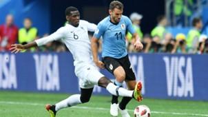Cristian Stuani Paul Pogba Uruguay France World Cup 06072018