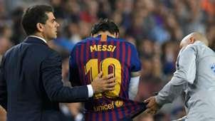 Lionel Messi Barcelona Sevilla injury
