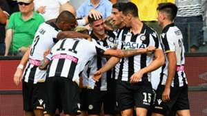 Udinese celebrating Udinese Torino Serie A
