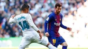 Lionel Messi Casemiro Real Madrid Barcelona El Clásico LaLiga 23122017