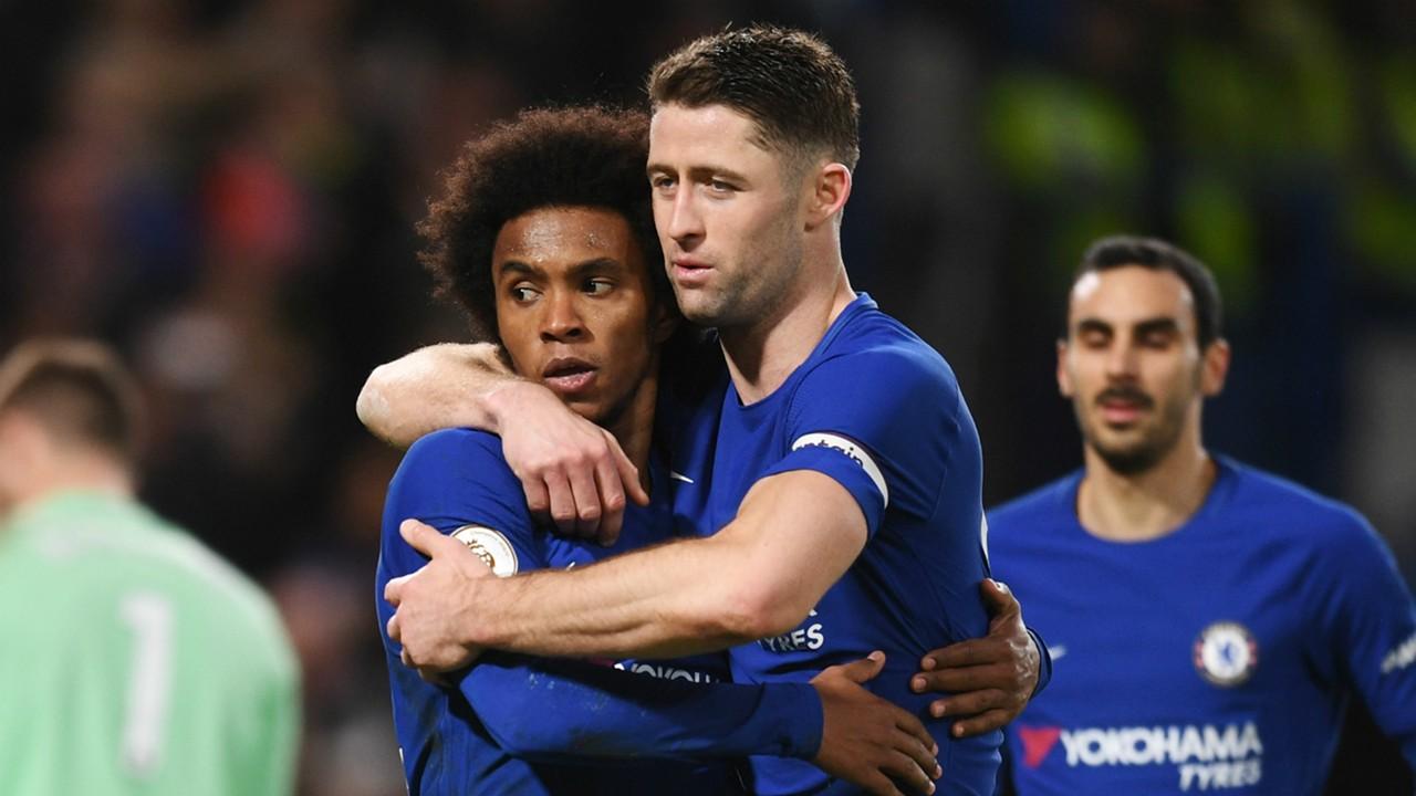 Willian Gary Cahill Chelsea 2017