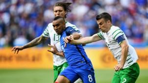 Dimitri Payet Seamus Coleman France Ireland UEFA Euro 2016 26062016