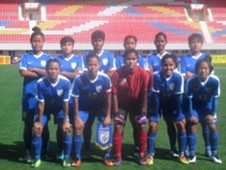 Indian women's football team vs Hong Kong
