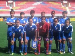 Indian women's football team vs Hong Kong