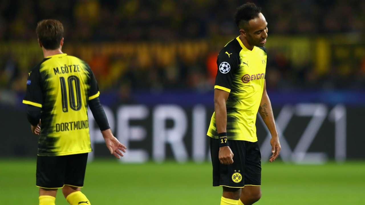 Mario Gotze Pierre Emerick Aubameyang Borussia Dortmund Real Madrid Champions League 26092017
