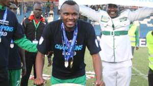 Jacques Tuyisenge of Gor Mahia with the KPL Trophy.