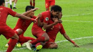 Selebrasi Indonesia U-16 Bagas Bagus