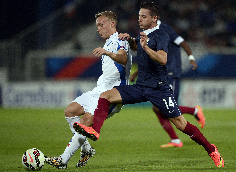 Gudmundur Thórarinsson Floriant Thauvin Iceland U21 France U21 09/08/14