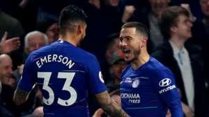 Emerson Palmieri, Eden Hazard, Chelsea vs West Ham 2018-19