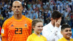 GERMANY ONLY Willy Caballero Lionel Messi Argentina World Cup 210618