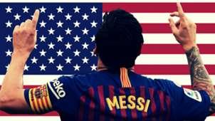 Lionel Messi Barcelona USA
