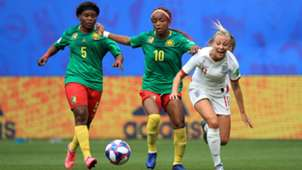 Cameroon's Ejangue and England's Duggan