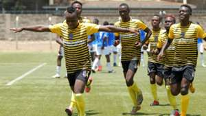 Wazito players celebrate win over Nairobi City Stars.
