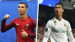 Cristiano Ronaldo Portugal Real Madrid Split