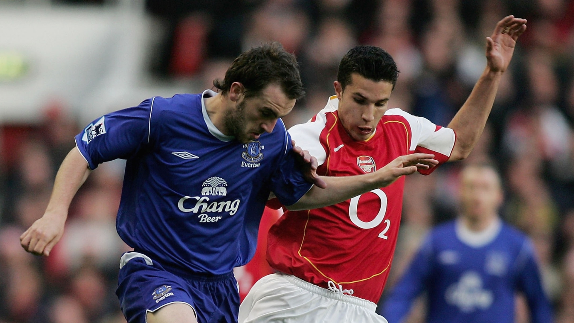 James McFadden, Robin van Persie, Everton vs Arsenal, May 2005