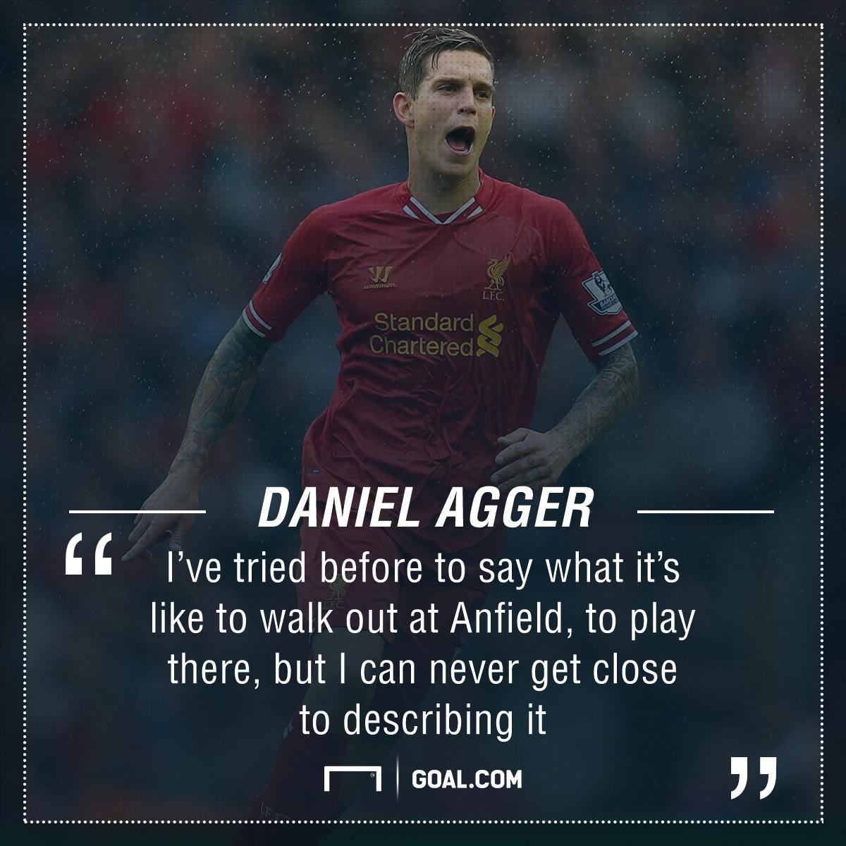 GFX Daniel Agger Liverpool Quote