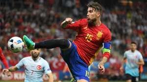 Sergio Ramos Spain Turkey Euro 2016